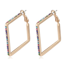 New arrival Jewelry for women champagne gold plated large hoops earings