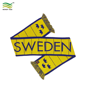 2018 World Cup silk satin football Sweden fan scarf(32 Qualifying Teams)