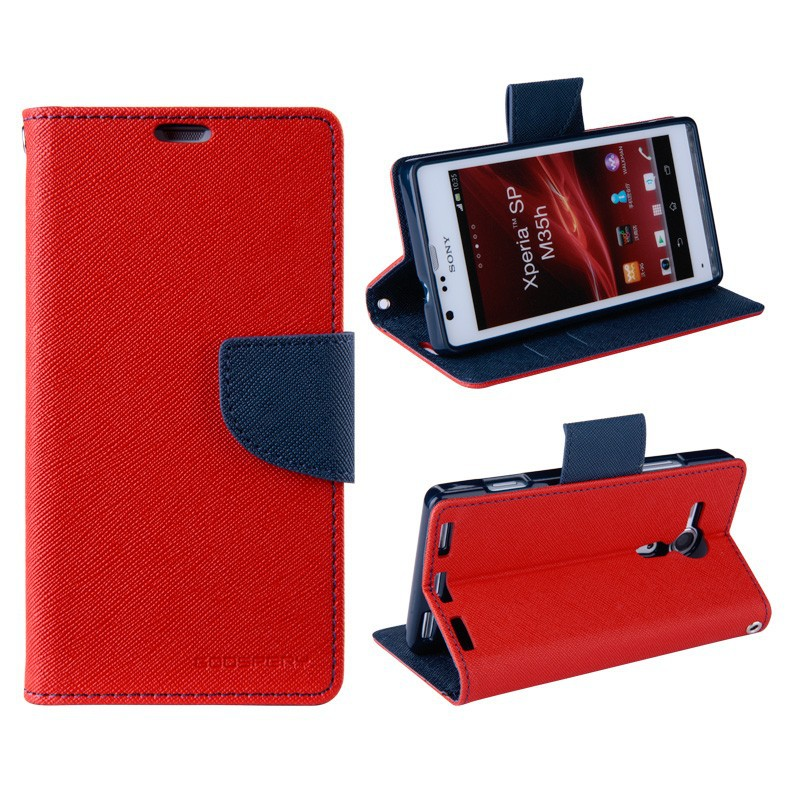 2015 New Products High Quality Flip Cover for Sony Xperia M2 Mobile Phone Case