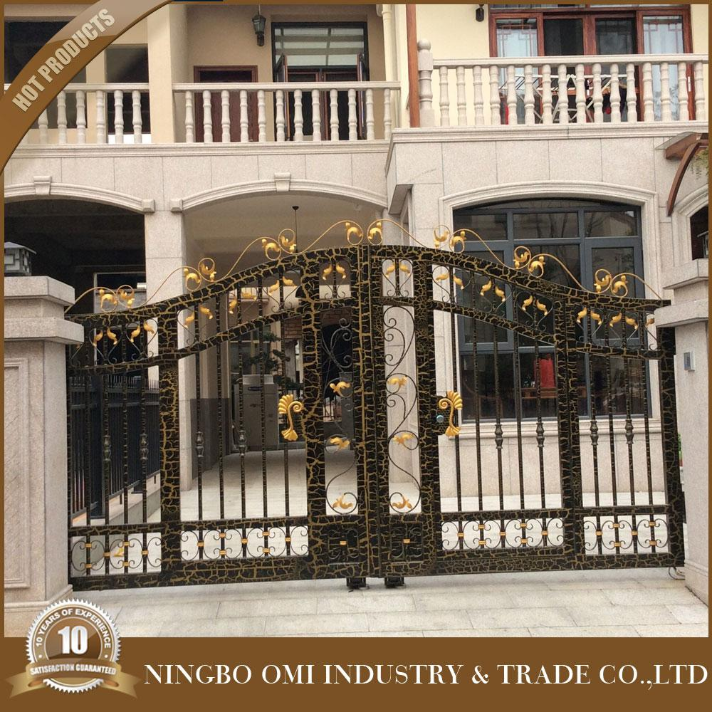 Powder coated wrought aluminum gatemodern main gate designsnew design cast iron
