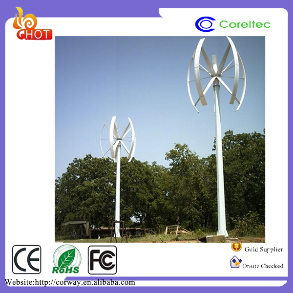 Vertical type wind turbine 10KW Low RPM Vertical axis wind turbine