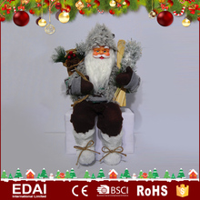 New listing home decoration wear colorful clothes plastic santa claus best toys for 2016 christmas gift