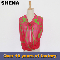 hot sale fashion twill embroidery digital silk printing scarf printing services factory china
