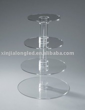 transparent acrylic 4 tiers cake stand