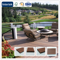 2016 hot sale outside waterproof wpc decking floor/ deck wpc plastic wood composite with low price