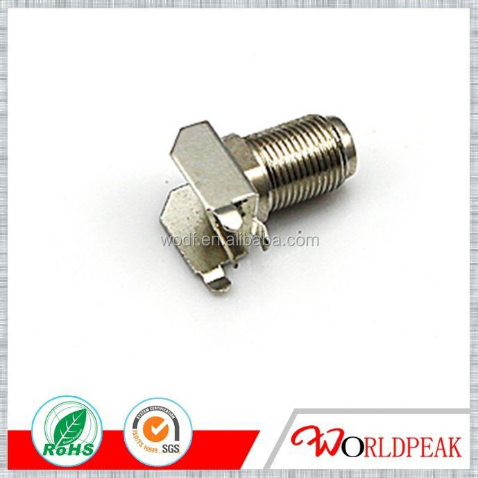 High frequency 3GHz f connector CCTV Connector Nickel Plated