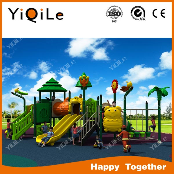 new manufacturing children outdoor playground padding cheap plastic slides toys