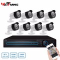 8CH 1080P AHD DVR AHD 8 pcs Weatherproof AHD Cameras DVR Security Camera System DVR Kit Camera 1080P