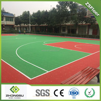 ZSFloor high quality synthetic basketball sports court flooring
