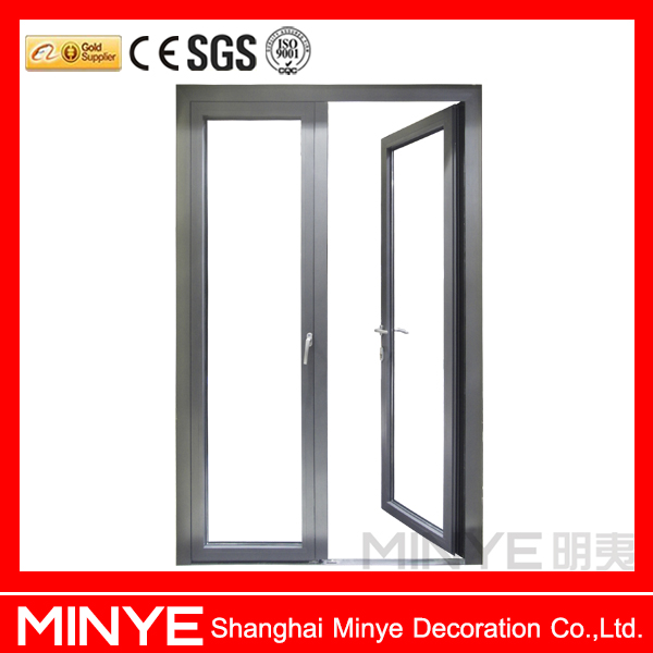 China raw material with German brand hardware house gate design entry commercial glass doors