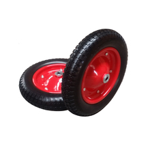 Factory supply flat free pu foam solid tire for wheelbarrow