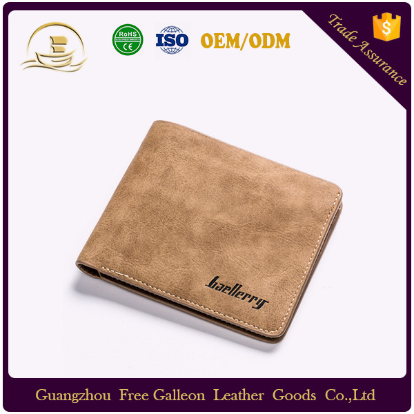 Free sample credit card holder rfid leather smart wallet baellerry wallet for men