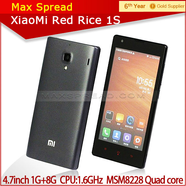 Xiaomi Redmi 1S Smartphone MIUI V5 Android 4.3 WCDMA version 2014 newest cellular phone