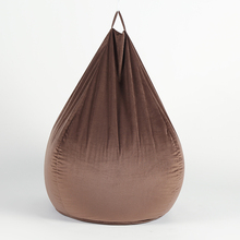 Trendy Coffee Teardrop Velvet Fabric Beanbag <strong>Furniture</strong>/Sitzsack