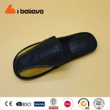 High quality fashion man shoe leather slipper made in China