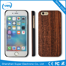 Laser carving mobile case cover for iphone 6 6s plus,wood phone case for iphone 6 6s plus