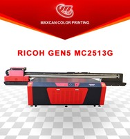Glass / wood / metal printing machine / Glass digital inject 3D UV flatbed printer