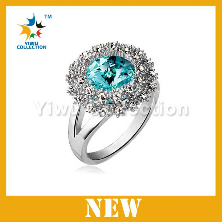 92.5 Sterling Silver Wholesale New Listed Design Jewelry,Wedding Rings,Crystal Engagement Ring