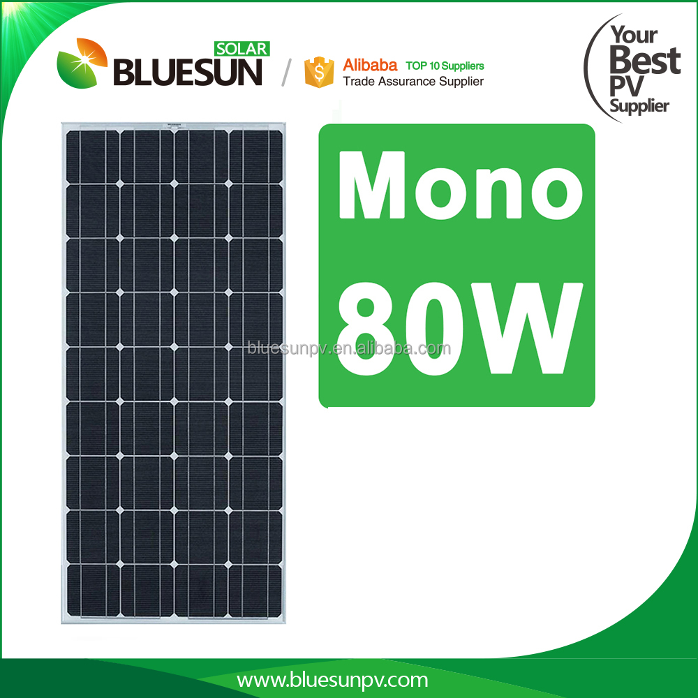 Bluesun super cheap qualified mono 80 watt solar panel