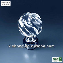 clear acrylic cheap curtain rod finials