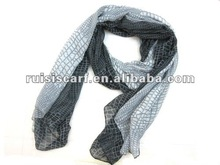 2012 viscose scarf with snake pattern scarf