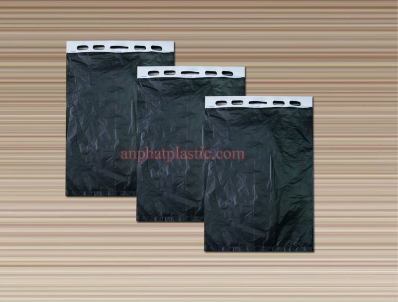 HDPE block header with cardboard plastic bags