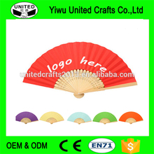 Chinese Foldable decorative Bamboo Ribs Paper Hand Fans