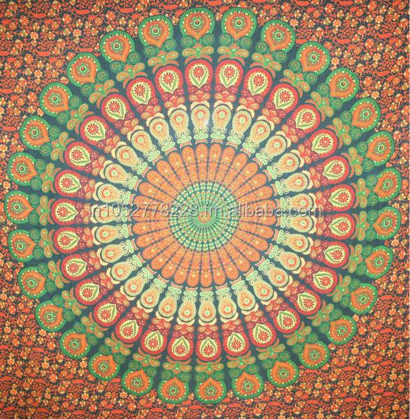 Bohemien block gedruckt bettlakentagesdecke hippie