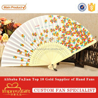 Customized chinese bamboo hand held folding fan