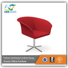 Cheap modern style red fabric lounge chair portable styling leisure chair GAC03