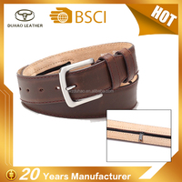 Fashion Man pu Leather Money Belt With Zipper For Money keeping