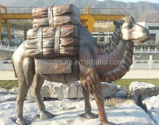 large outdoor brass camel statue