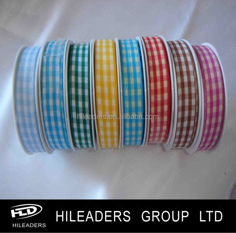 2017 Decorative Grid Ribbon/Tartan Ribbon/Check Ribbon