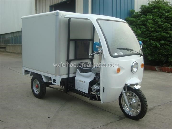 Cargo use best sell 200CC Motorized Tricycle With cooling box
