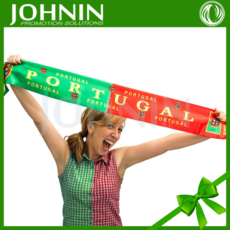 JOHNIN made Custom promotional gifts satin portuguese scarf