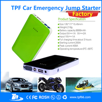 TPF mini high quality multi-function 8000 mah car power bank jump starter for phone and digital device