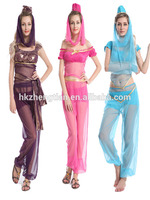 Instyles zhengtian Princess Jasmine Genie belly dance costume Arabian Nights Fancy Dress online shopping for clothing