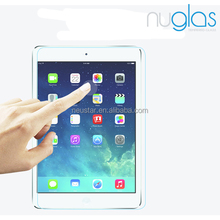 Nuglas wholesale clear anti glare 9h 0.3mm anti shatter film tempered glass screen protector for ipad air
