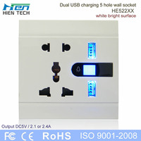 Home electrical fitting international wall socket with usb can charge mobile phone without charger