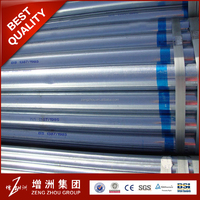 galvanised steel pipe with couplings and caps BSP NPT hot-dipped galvanized or electrical-galvanized
