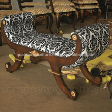 Living Room Sofas - Antique Luxury Carving Gilded Stool