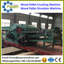 Automatic Nails Wooden Pallet Crusher/Waste Furniture Crushing Machine