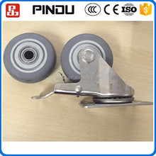 industrial stainless steel swivel 6 inch soft rubber screw in caster