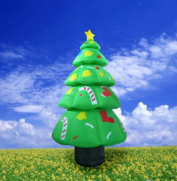 8mH Christmas Decoration Inflatable Christmas Tree For Holiday