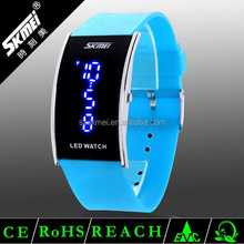 Rubber PU Band Watch,Unisex New Sport LED Watch Stainless Steel Back