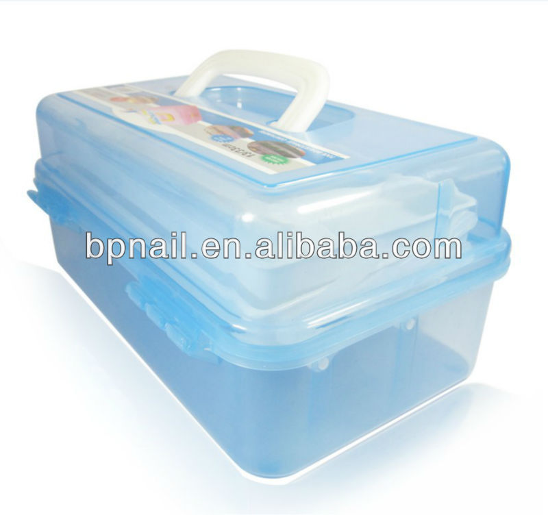 Nail art supplies 3 layer Nail art plastic tool box