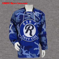 Best ice hockey equipment custom sublimation print hockey jerseys