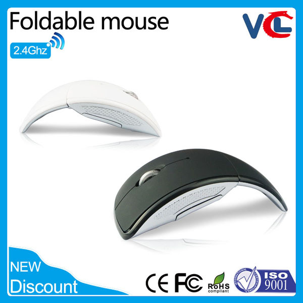 OEM mini slim foldable optical mouse wireless