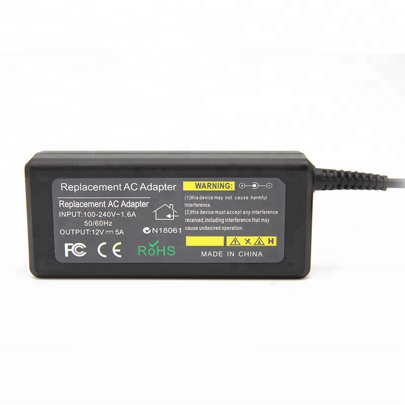 In stock Exact power supply 12v 5A 60W ac dc LED power adapter
