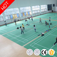 Athletic antique badminton court sports pvc flooring with uv coating